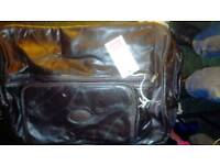 Cotton Traders leather luggage bag