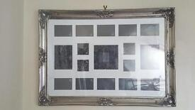 Large Silver Vintage Shabby Chic style Frame