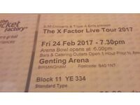 2x X Factor Live Tour tickets Birmingham (Genting Arena) 24th feb 2017