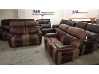 NEW ScS RALPH BROWN 2 SEATER ELECTRIC & 2 SEATER MANUAL RECLINER SOFAS Can Deliver ViewCollect NG177