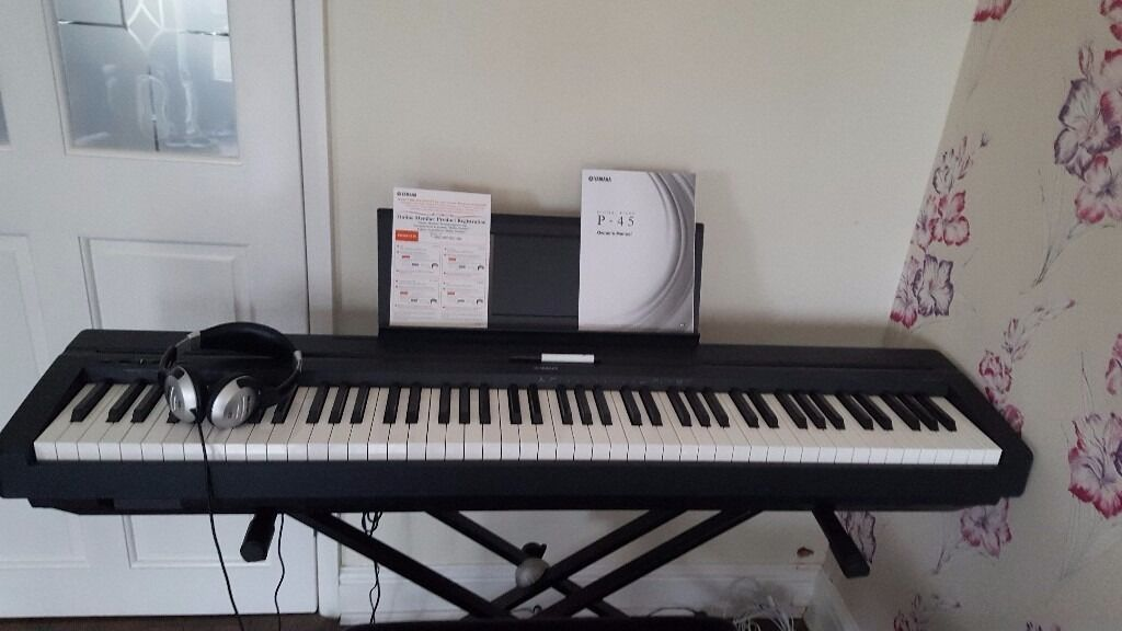 yamaha p45 electric piano in stockport manchester gumtree. Black Bedroom Furniture Sets. Home Design Ideas