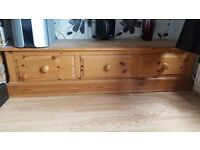 Solid pine sideboard/unit with 3 draws