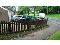 Arched fence and gate