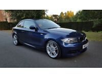 2010 BMW 1 SERIES 3.0 135i M Sport 2dr Blue With Full Cream Leather 28k Only