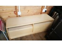 Tv stand with 2 draws - ikea