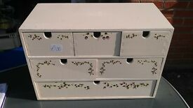 Storage drawers - floral shabby chic bedroom office tidy