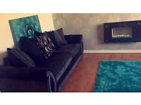 Like NEW 4 seater sofa & Cuddle chair & foot stool from DFS