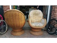 Pair of conservatory chairs for sale