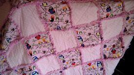 Hand made rag quilt