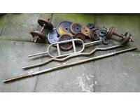 YORK Free Weights & Bars - Used