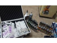 Tattoo kit for sale with two machines ten tattoo guns