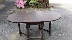 Solid Oak Dropleaf Table