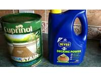 Decking anti-slip paint and cleaner