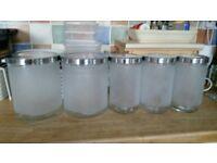 Airtight glass storage jars set