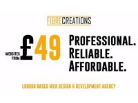 Affordable and Professional Web Design & Development from £49! London based agency, 24/7 contact.