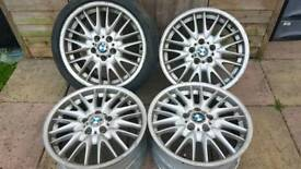 "BMW 3 Series MV1 18"" alloy wheels - 5 x 120 - 235/40 - 8j all round - NEEDS TYRES - £100"