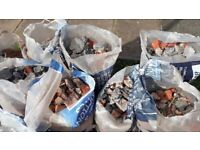**FREE - will split** Brick rubble (18-20 small bags/sacks)
