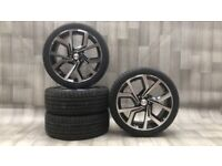 "18"" Clubsport Style alloy wheels and tyres (5x100) Suits VW Polo, Audi A1, Seat Ibiza etc"