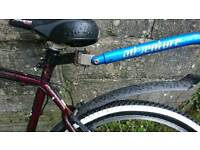 Tow behind bike training with seat