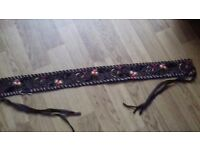 Ladies fabric belt