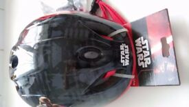 New bicycle helmet, small size, (52-56cm) totally new with tags, star wars