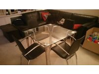 John Lewis Glass table with 4 chairs