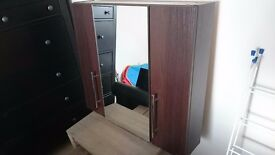 Modern and Stylish triple door cabinet with mirror and child locks