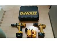 2 Dewalt Cordless Drill Power Tools