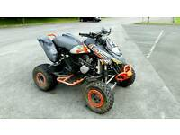 Bombardier ds650x road legal quad bike, px swap