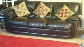 sofas black leather pairs