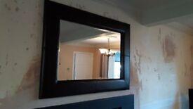 Modern Leather Mirror