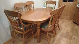For Sale Solid wood dining table and chairs