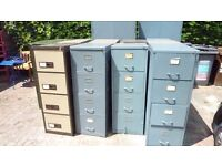 large collection of filing and storage cabinets