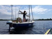 Corribee sailing yacht, Yamaha engine, DSC Radio, GPSNav, Autotiller, Wind Generator, Road Trailer.