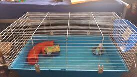 100cm Rabbit Guinea Pig Cage w/ Tunnels, Bowl, Bottle, Hay Rack