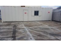 32ft x 10ft Anti Vandal Portable Cabin SITE OFFICE / DRYING ROOM / CHANGING AREA shipping container