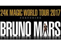 X2 standing tickets for Bruno Mars 24k Magic World Tour at Leeds Arena