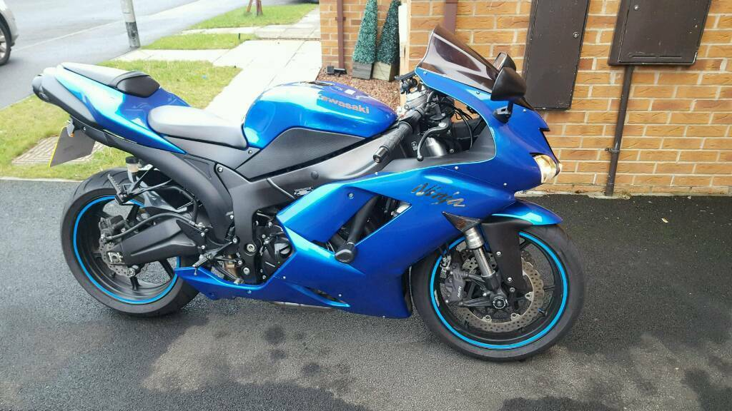 Kawasaki Ninja ZX6R 600cc P8F Blue Not Gsxr Cbr Honda Ktm Daytona