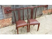 Pair of Vintage Edwardian chairs
