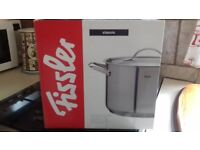 Fissler stainless steel stockpot with lid 6.8 litre BNIB