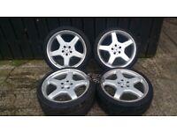 MERCEDES BENZ R19 AMG Alloy Wheels & Tyres - Set of 4 - 255/235 A2154010302