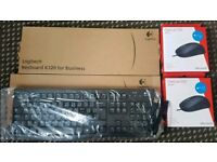 Two Logitech Keyboards and two Microsoft Optical Mouse