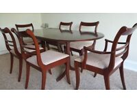 Mahogany Extendable Dining Table & 6 Chairs