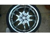 """20"""" chrome zinik alloys ford jaguar"""