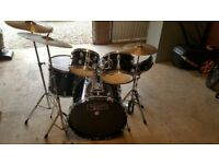 Drum kit, used condition. Ideal for a beginner.
