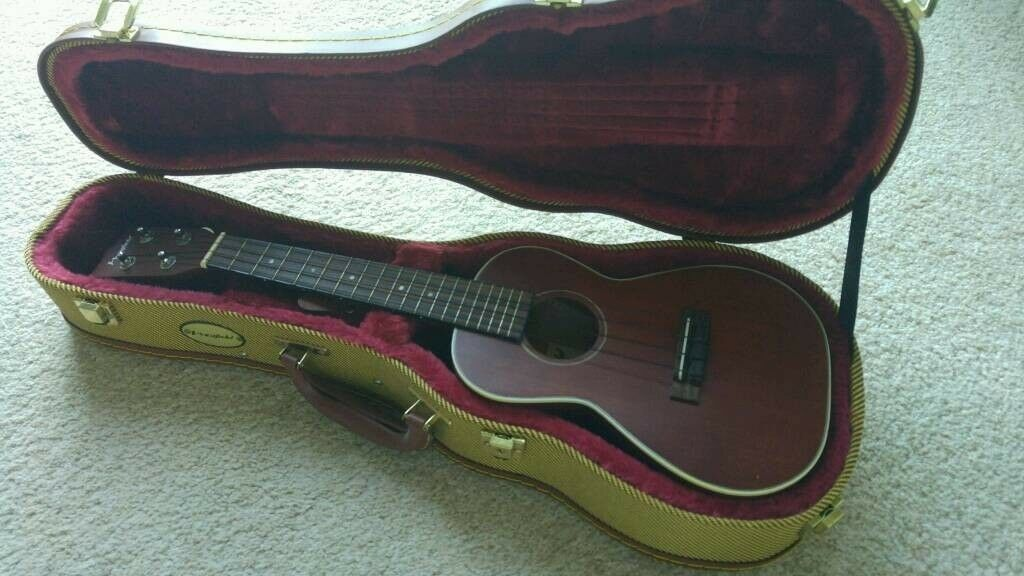 "Ukulele from Westfield with tweed hard case mint condition..24"" Long"
