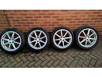 "17"" x4 Fox Alloy Wheels with tyres for sale"