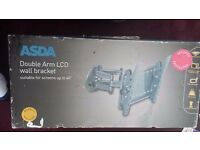 Double arm lcd tv wall bracket