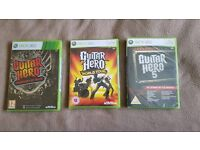 Xbox Guitar Hero Games **BRAND NEW AND SEALED**
