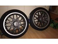 """BBS RSII 18"""" 5x100 New Tyres"""